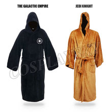 Star Wars Cavaleiro Jedi Cosplay Trajes de Banho Coral Fleece Homens Sleepwear Robe Macio Aconchegante Para Dormir Camisola Traje Cosplay WR-3G