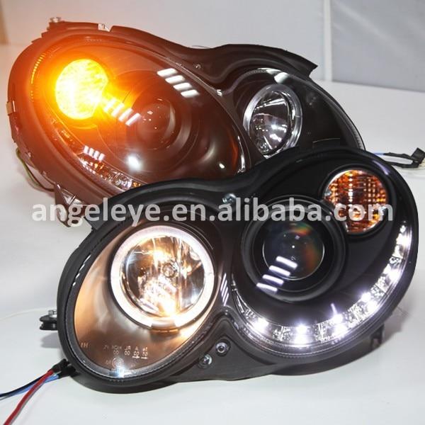 Pour mercedes-benz CLK W209 LED phare 2004-2009 an boîtier noir SN