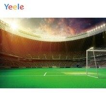 цена Yeele Sports Photography Backdrops Soccer Door Football Match Field photographic backgrounds For Photo Shoots Studio Photobox онлайн в 2017 году