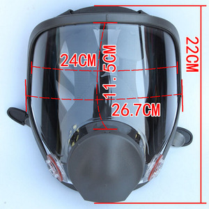 Image 2 - 9 In 1 Painting Spraying Safety Respirator Gas Mask same For 3M 6800 Gas Mask Full Face Facepiece Respirator