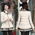 New 2014 high quality warm Plus size winter women jacket Slim Lotus Leaf collar down jacket women down coat 35