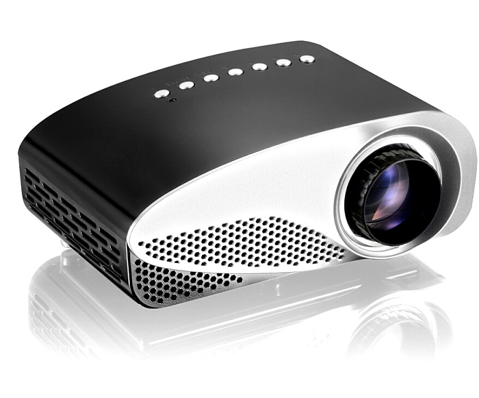 Portable Mini LCD Projector AV IN/SD/USB/VGA/HDMI Mobile LED Proyector Home Cinema Theater 480*320 support 1080P Video Games uc30 30w portable mini lcd high definition projector w sd av vga hdmi micro usb white