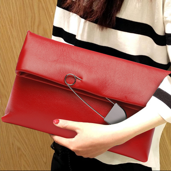 Modern Women Clutch Bag Genuine Leather Solid Color Fold Clutches Purse Fashion Banquet Envelope Bags Female Shoulder Crossbody