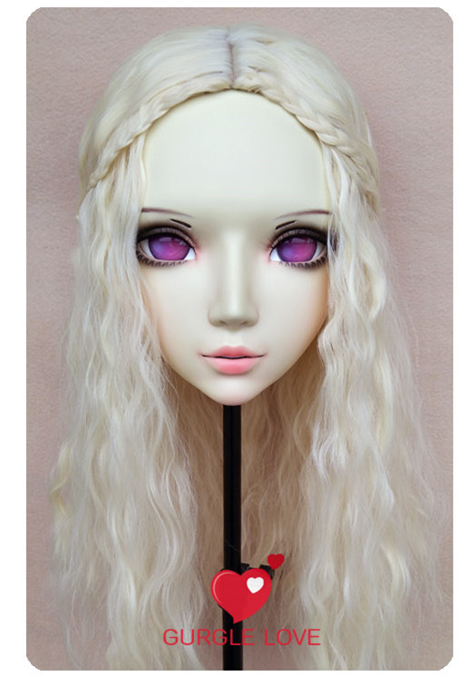 gl046 Kids Costumes & Accessories Sweet Girl Resin Half Head Bjd Kigurumi Mask With Eyes Cosplay Anime Role Lolita Mask Crossdress Doll Elegant And Sturdy Package