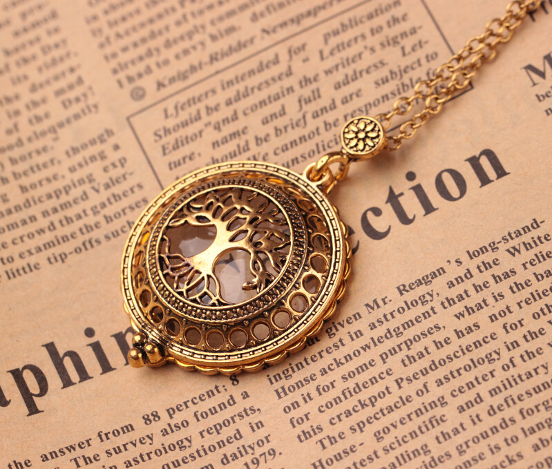 US $1 82 |Vintage Magnet Magnifier Lockets Hollow Life Tree Flower Pendant  Long Necklace For Women totem religion Maxi Jewelry Mother Gift-in Pendant