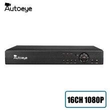 Autoeye 16CH 1080P HI3531A CCTV DVR NVR HVR 5 en 1 híbrido DVR soporte vmeyesuper de