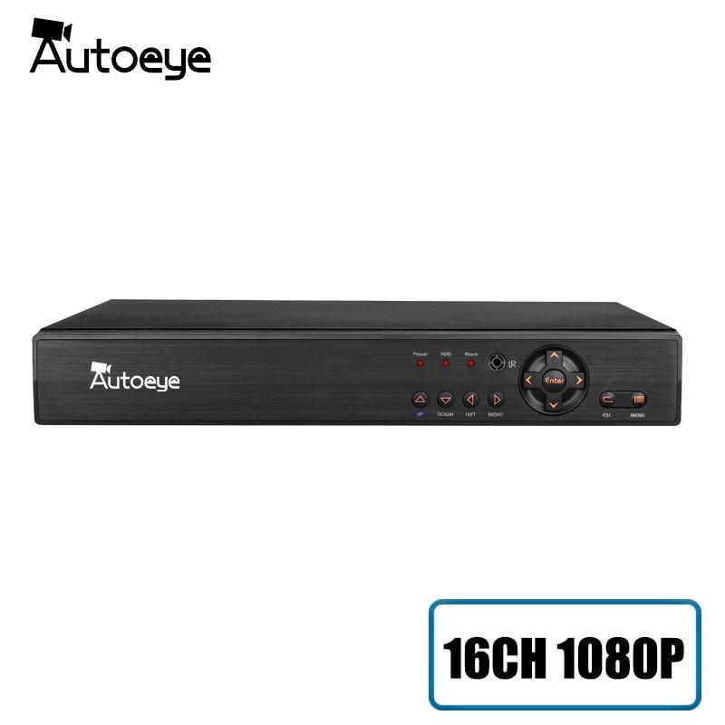 Autoeye 16CH 1080 p HI3531A cctv dvr NVR HVR 5 en 1 híbrido DVR soporte xmeye