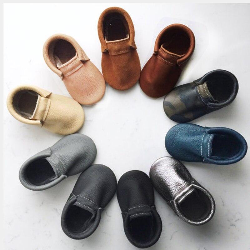 New born Genuine Leather Baby Moccasins grey tassel shoes Baby moccasins fringe First Walker kids shoes
