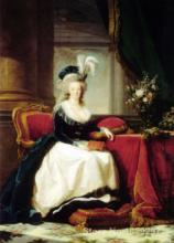 Marie Antoinette with a book,Paintings by Elisabeth Vigee Lebrun,impressionist art,High quality,Hand-painted