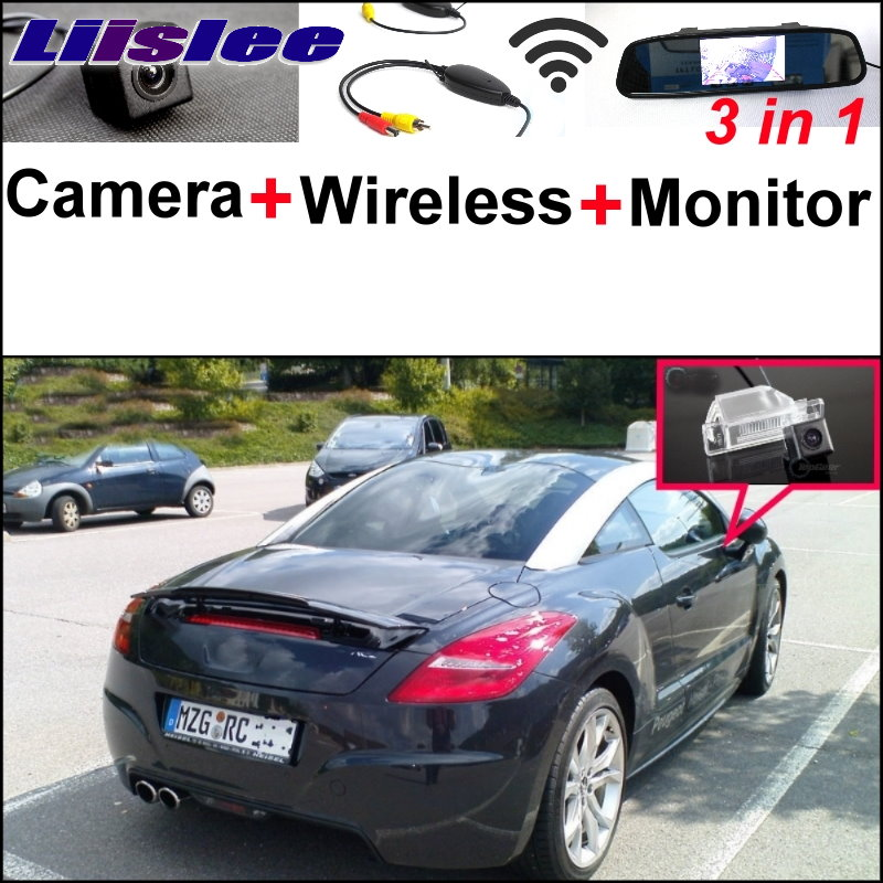 Liislee For Peugeot RCZ 2009~2015 3 in1 Special Rear View Camera + Wireless Receiver + Mirror Monitor Easy DIY Parking System 3 in1 special rear view camera wireless receiver mirror monitor easy diy backup parking system for jeep liberty 2002 2007