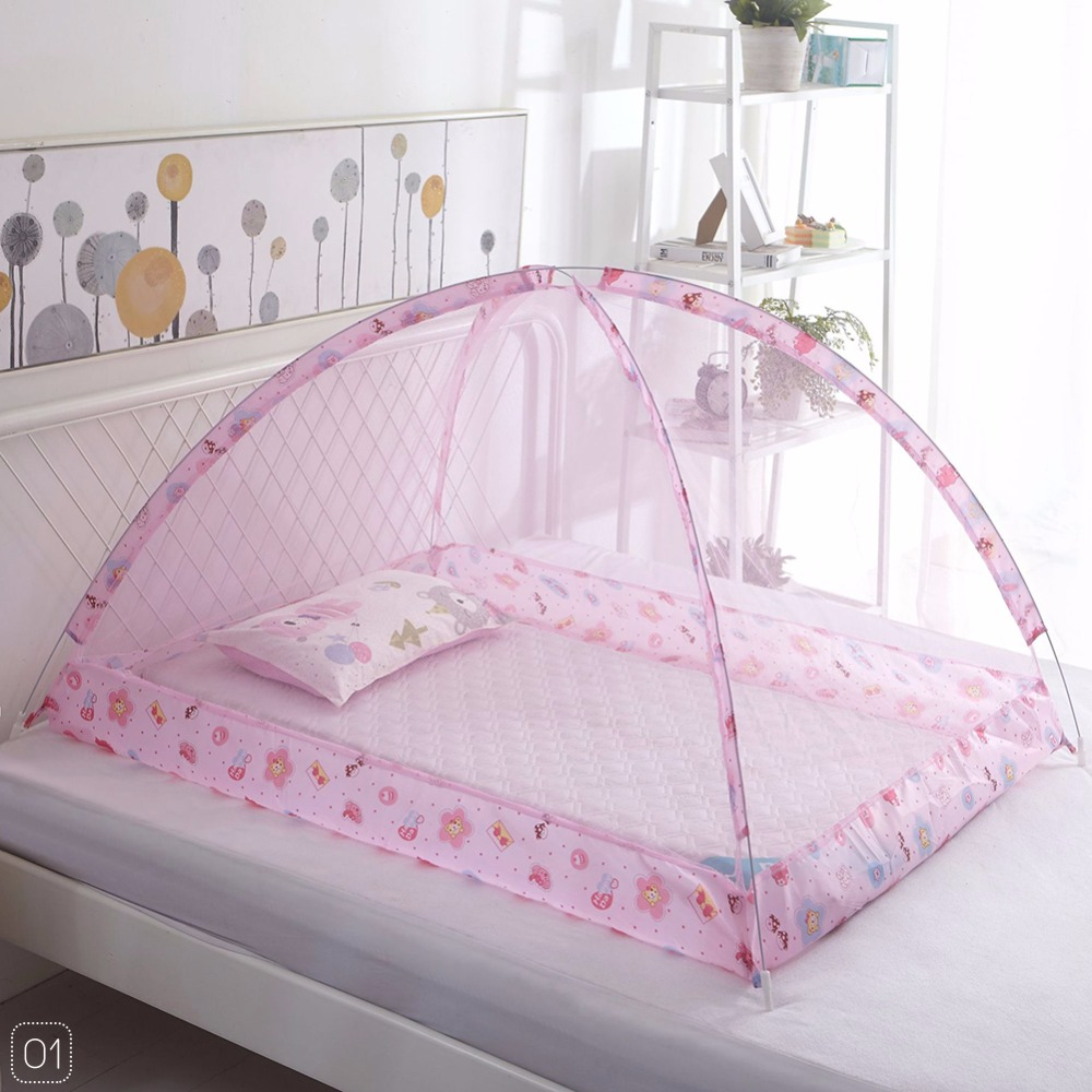 Buy Cheap Cute Baby Mosquito Net Portable Folding Type Comfortable Infant Pad With Sealed Mosquito Net Baby Bedding With Pillow Always Buy Good Back To Search Resultsmother & Kids Crib Netting