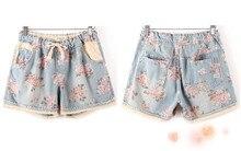 Summer Denim Elastic Shorts