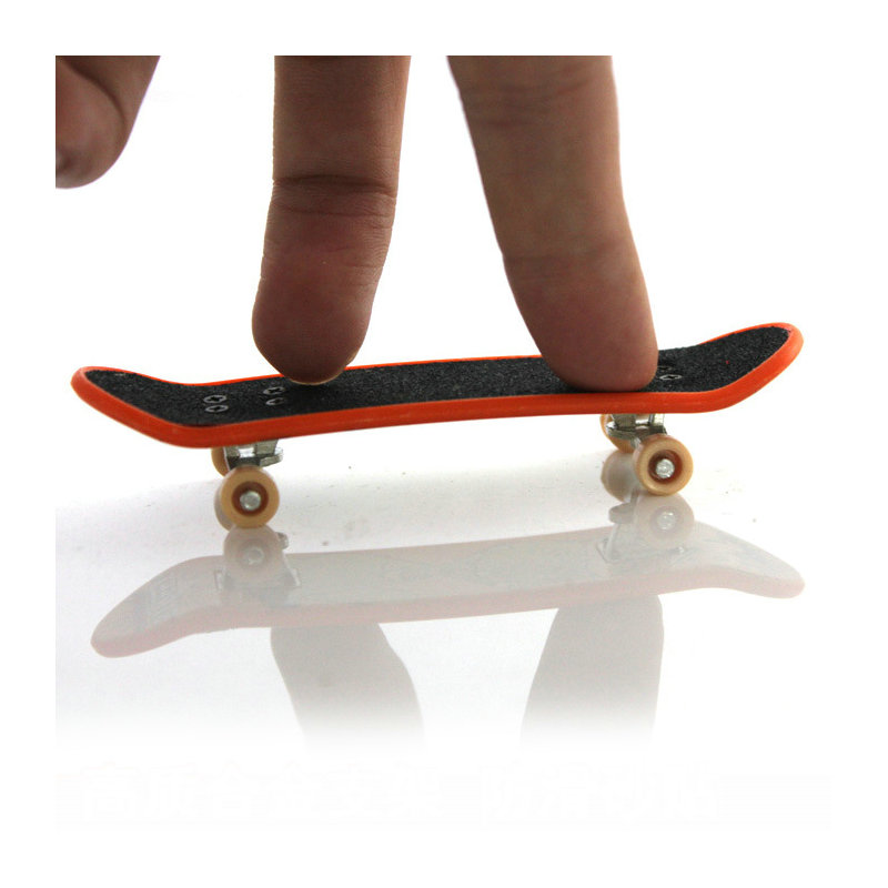 1pc Mini Skateboard Finger Skate Double Rocker Mini Vinger Skateboard Toets Mini Skate Plastic Stents Scrub Vinger Scooter