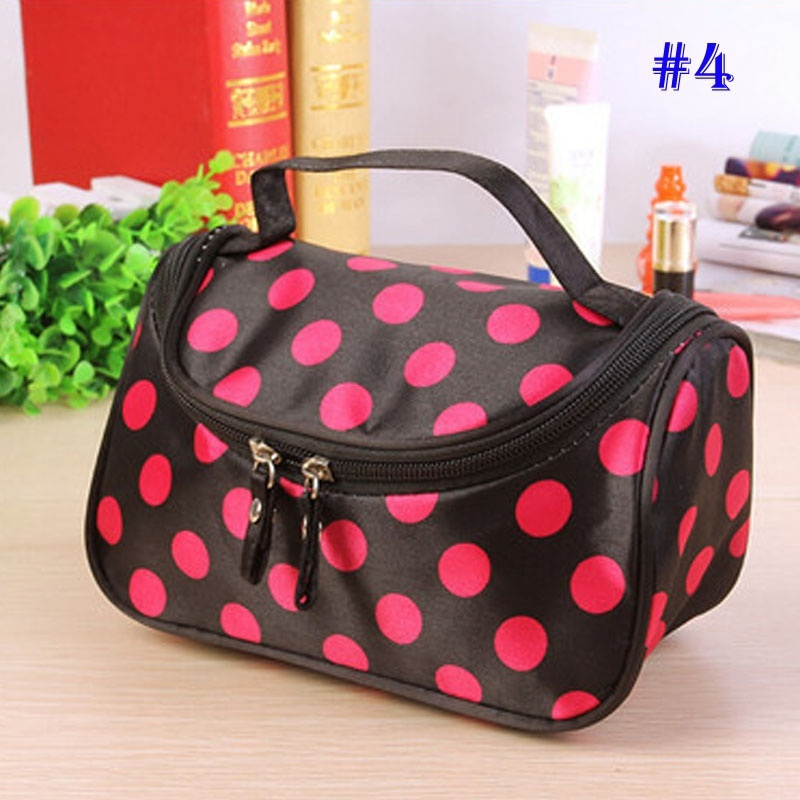 NIBESSER Necessary Dot Cosmetic Bag Lady Travel Organizer Accessory Toiletry Zipper 2018 Makeup Portable Beauty Pouch solid color fashion cosmetic bag ladies portable travel necessary markup pouch storage beauty tools accessories supply products