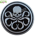 Wholesale Marvel Comics CAPTAIN AMERICA HYDRA Logo Embroidered Patch Iron-Man Marvel Shield Agent Embroidered Patch Free Ship