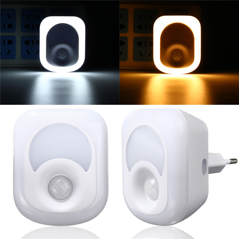 26 LED Human Infrared Activated Motion Sensor PIR Night Light Warm White Wall Emergency  ...