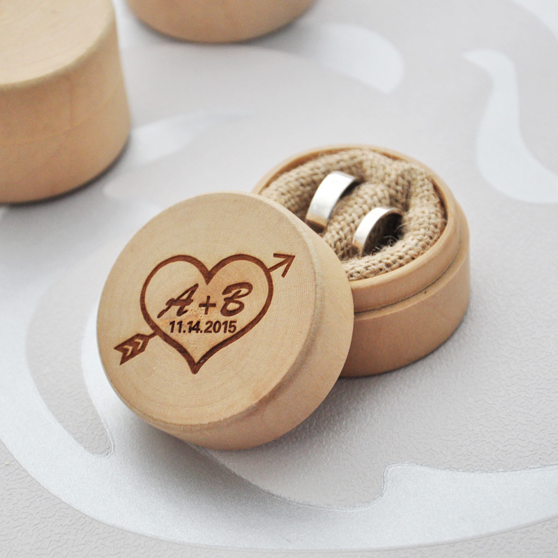 Personalized rustic ring bearer box custom wedding ring for Personalized wedding rings