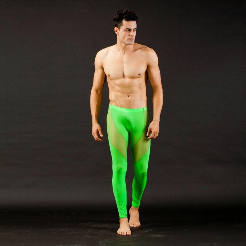 Men's Mesh Breathable Low Rise Long johns Thermal Pants Underwear Trousers S M L