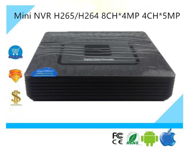 Mini NVR H265 H264 8CH 4MP 4CH 5MP Network Digital Video Recorder IP Camera ONVIF2 4