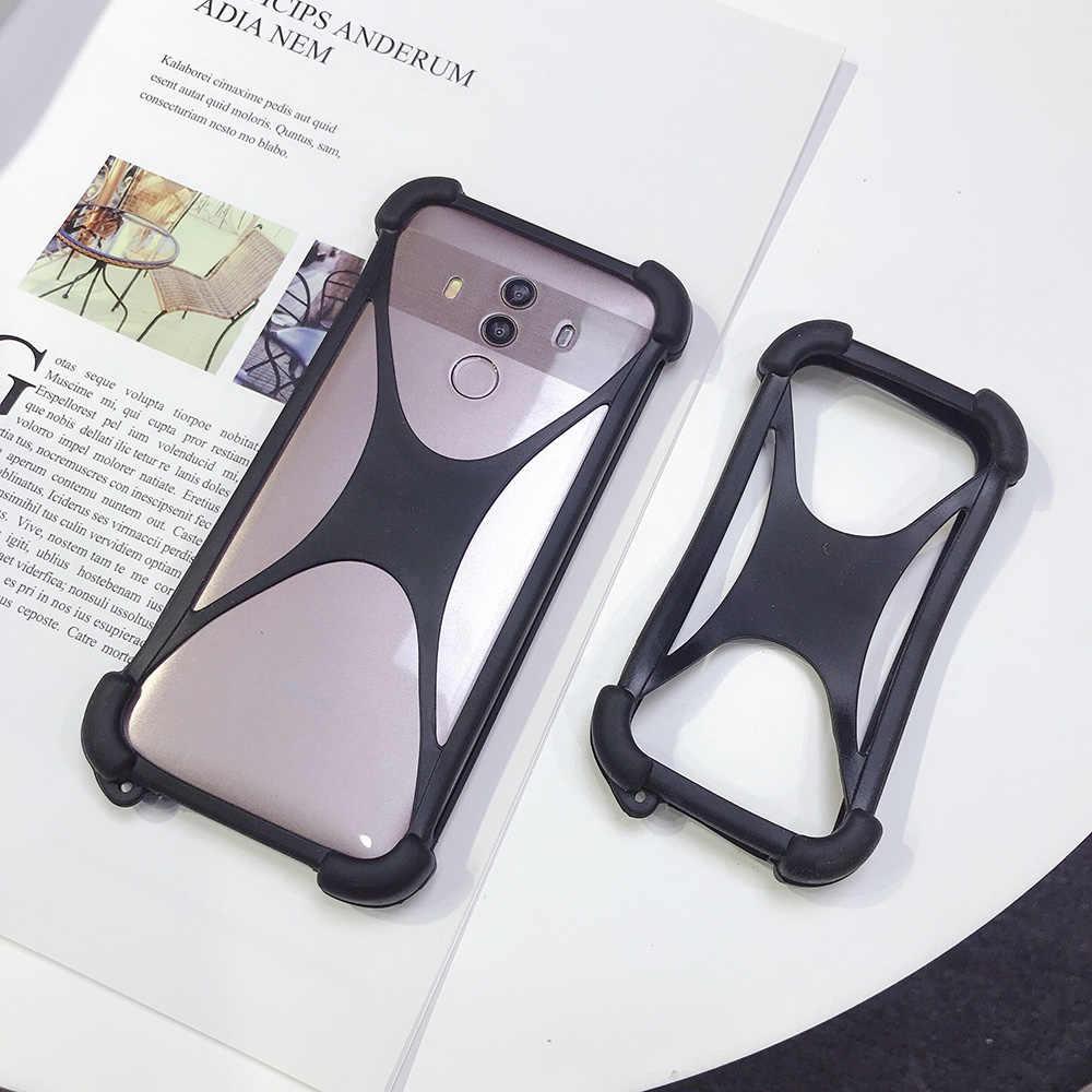 Alcatel 1C (2019) 5 дюймов чехол силиконовый бампер резиновый корпус мобильный телефон мягкая рамка чехол для Alcatel 1 S 5,5 дюймов универсальный чехол