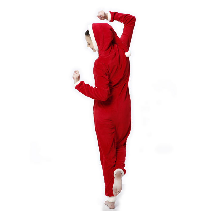 bb82d9ebf5 Aliexpress.com   Buy Women Plus Size Coral Fleece Pyjamas Hooded Christmas  Costume Onesie Winter Warm Christmas Party Clothes Pajamas For Adult Women  from ...