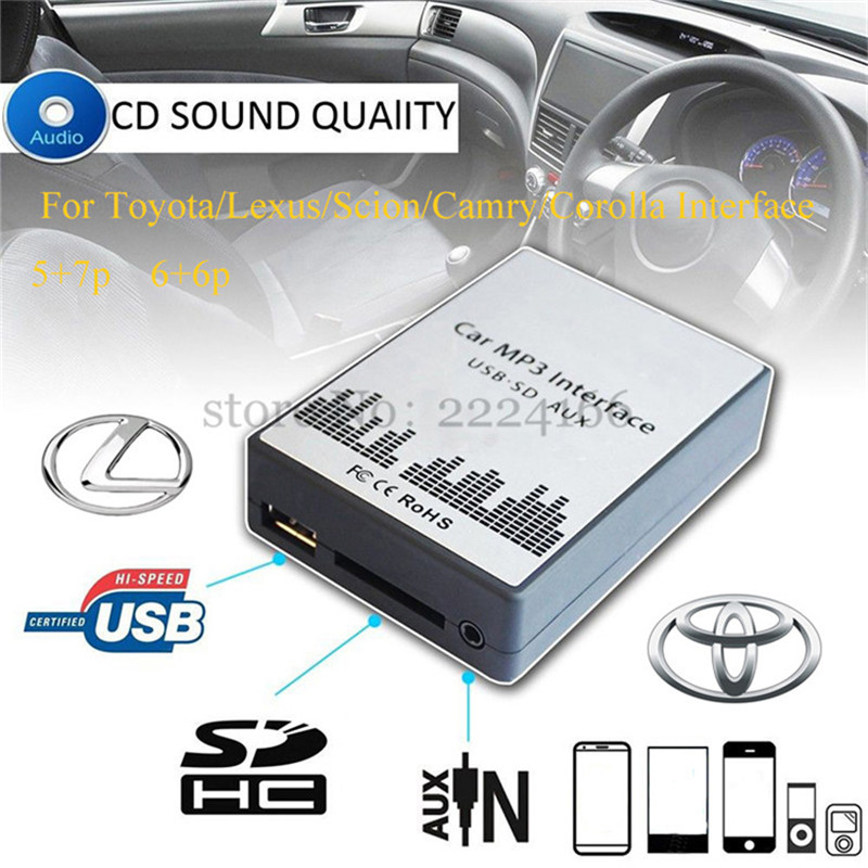 SITAILE USB SD AUX car MP3 music player Adapter CD Changer for Toyota Lexus Scion Camry Corolla Interface Car Kit car-styling