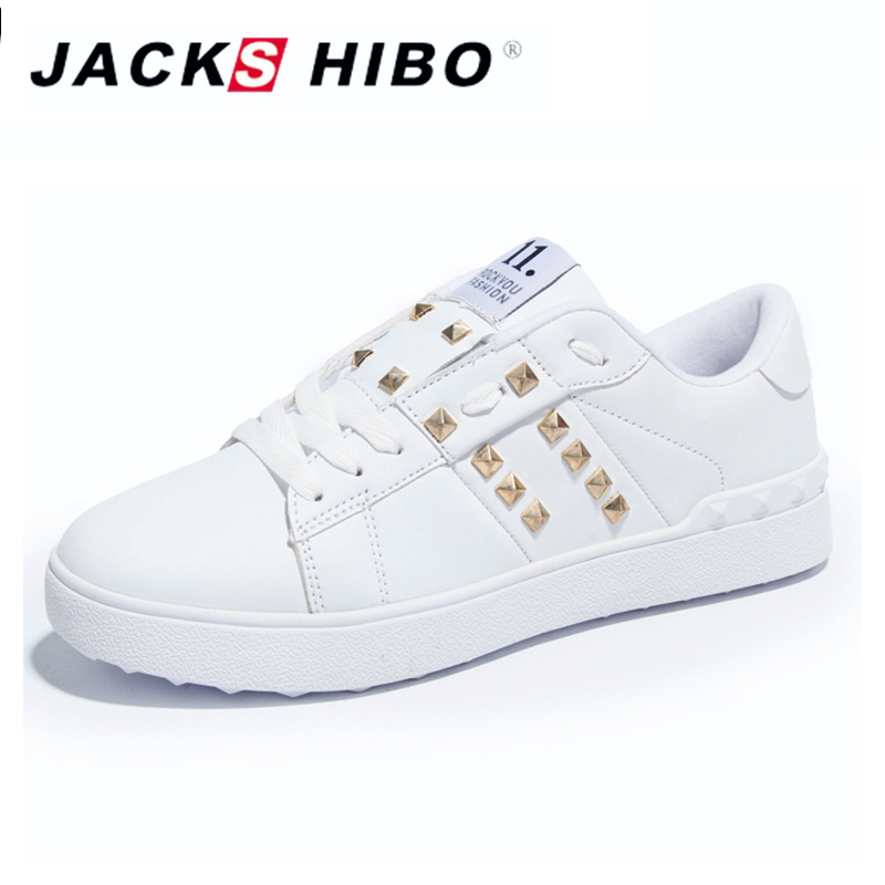 JACKSHIBO Womans Shoes Fashions 2018 Spring Design Women Shoes Rivet - Zapatos de mujer - foto 1