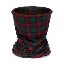 red and green tartan Pattern 3D Printing Headwear Bandana Multi Scarf Unisex High Quality Polyester Soft Seamless Ring Scarves