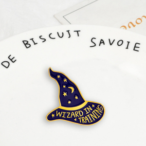 Dark Magic Wizard hat Gothic Badges Brooches BASIC WITCH Button Pins Punk Brooch Fashion Jewelry Gift for friend