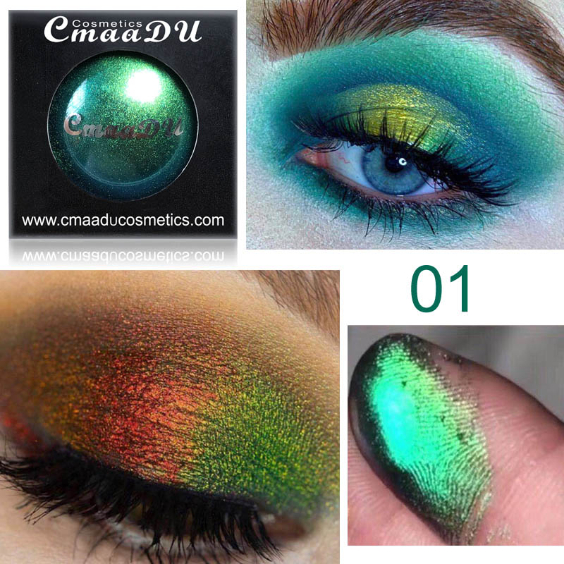 Beauty & Health Eye Shadow Hot Sale Cmaadu 4 Coloful Glitter Eyeshadow Makeup Powder Palette Women Smoky Eyes Metallic Shimmer Eye Shadow Green Blue Purple Cosmetic