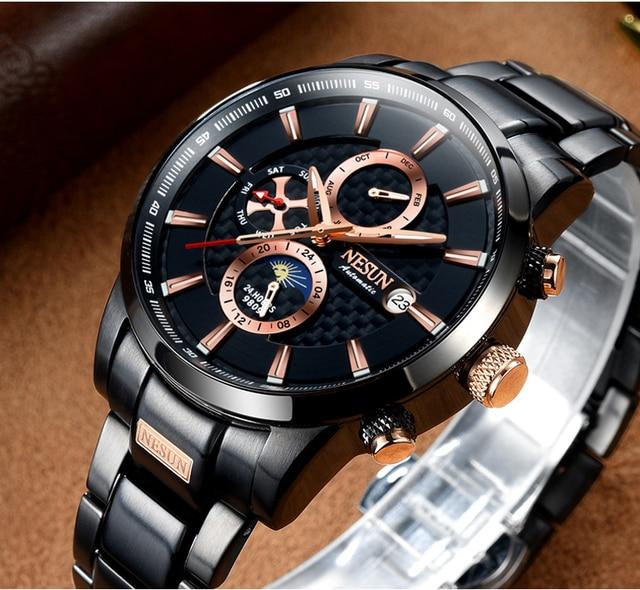 NESUN Luxury Swiss Watch Multifunctional Display Automatic Self-Wind Watch 2