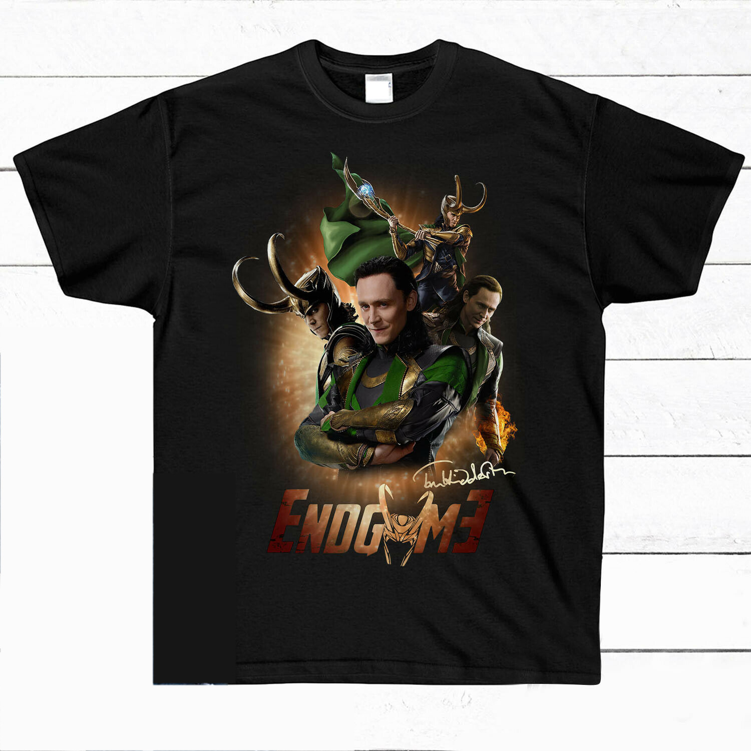 Avengers Endgame Loki Tom Hiddleston Signature Shirt Black ...
