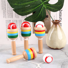 Montessori Toy Wooden Skill Sword Cup Ball Games Educational Outdoor Funny Toys for Children Gifts Traditional Games Toys(China)