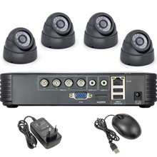 4CH H.264 DVR 4PCS HD 2000TVL Echtzeit APP Unterstützung Außen Sicherheit Dome Kameras Video DVR Kits CCTV Überwachung system