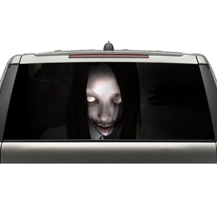 Cool Design Car Stickers For Back Window See Through