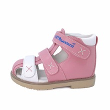 Toddler Boys and Girls Lovely Corrective Orthopedic Leather Sandals Spring Summer First Walking Ankle Brace Shoes