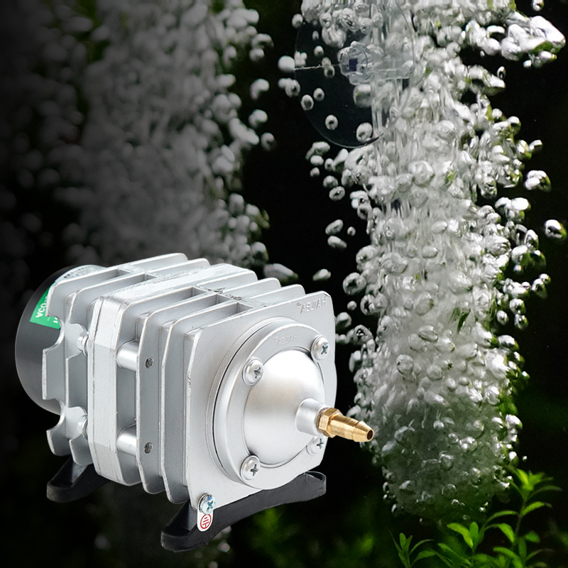 220V Electromagnetic Air Compressor Portable Koi Fish Tank Bubble Aquarium Air Pump Pond Aerator 25W/30W/35W/45W ...