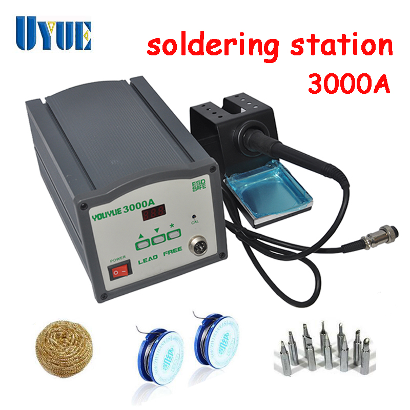 UYUE High Frequency Eddy Soldering Station 220V 120W Air nozzle  Solder wire iron tip Clean steel ball 3000A  цены