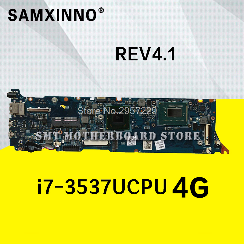 UX31A Motherboard i7-3537U-4GB-REV:4.1 For ASUS UX31A UX31A2 laptop Motherboard UX31A Mainboard UX31A Motherboard test 100% ok все цены