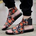 Diseñadores de los hombres Sandalias de verano Hombre casual Tejido Elástico Playa Zapatos de Los Hombres de Marca famosa Sandalias de Gladiador zapatillas XK122711