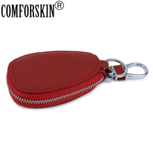 COMFORSKIN Brand Premium The First Layer of Genuine Leather Key wallets New Arrivals Multi-function Case For Cars Holder