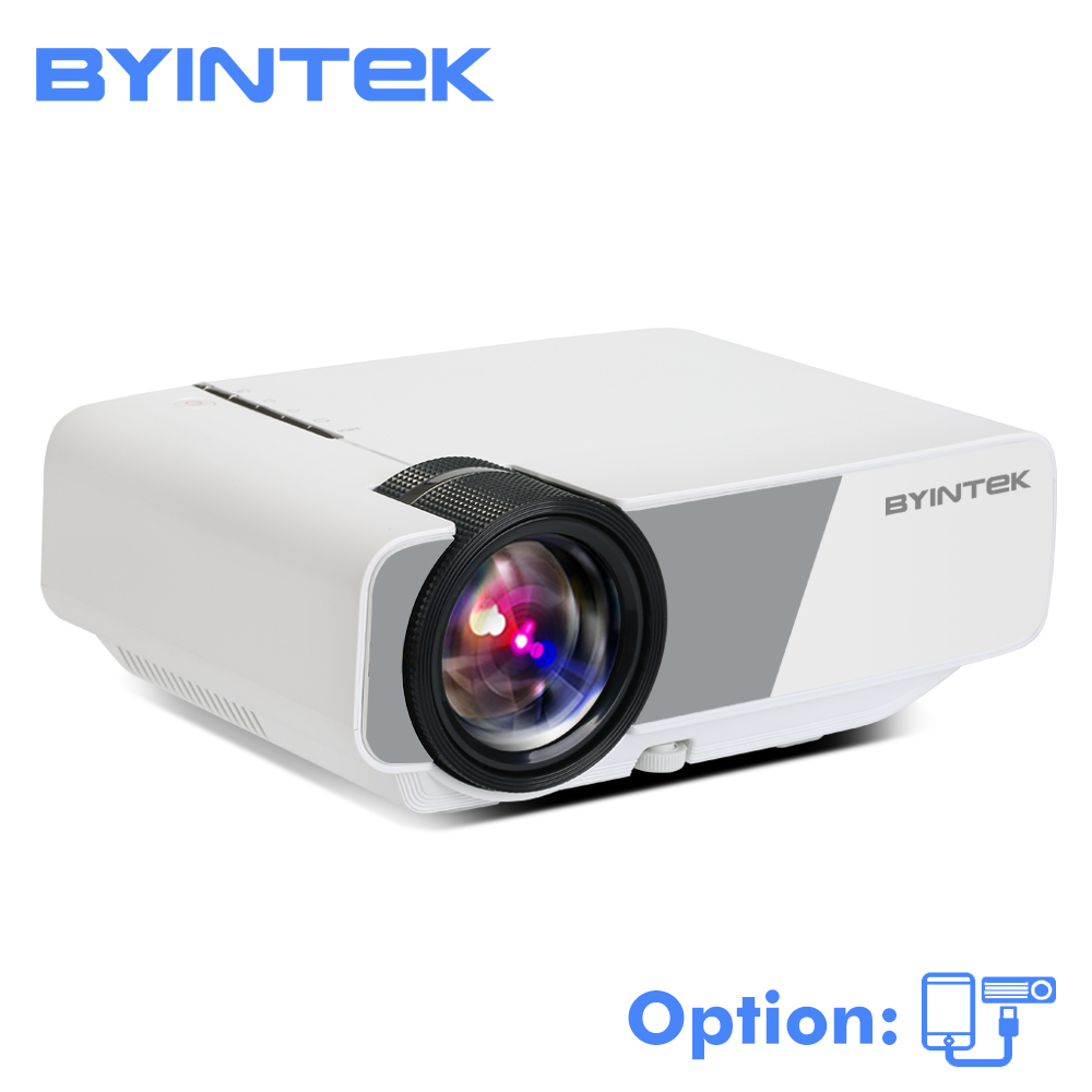 BYINTEK SKY K1/K1plus LED Tragbare Home Theater HD Mini Projektor (Optional Wired Sync Display Für Iphone Smart android Telefon)