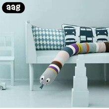 """AAG детская кроватка бампер под змеиную кожу подушки успокаивать младенцев куклы с длинными рукавами и очаровательным игрушка """"Змея"""" Подушка для сна, подушка для детей плюшевые игрушки"""