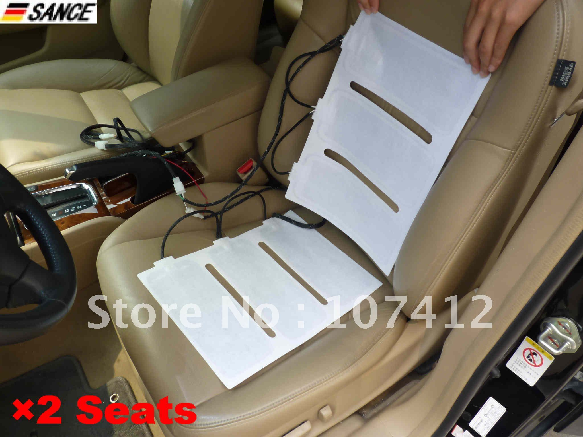Free Shipping SH002 2 Seat Carbon Fiber Universal Heater Kit 4 Heating Pad 5 Gang Wholesale Retail On Aliexpress