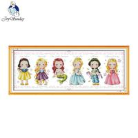 Joy Sunday The Princess Counted Cross Stitch 11CT 14CT DMC DIY Cross Stitch Kits Embroidery For