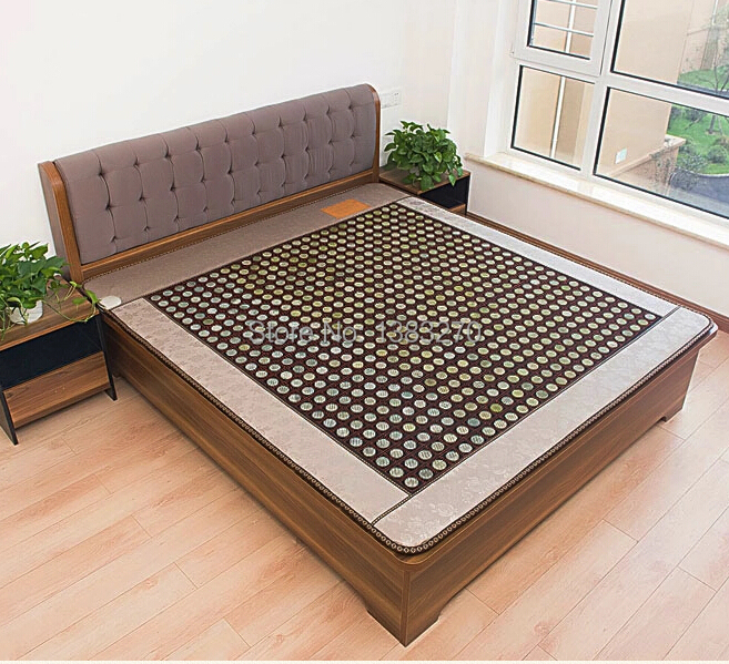 2017 New products jade heated massager mattress full body stone heating massager bed cushion 1.2X1.9M