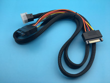 Mini SAS HD SFF-8643 a SFF-8639 Cable de Datos 100 cm Longitud Apoyo 750 pcie SSD nvme U.2 p3600 p3700