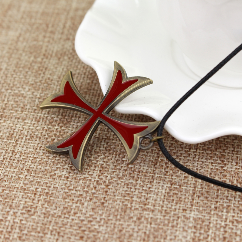 US $1 06 47% OFF|Hot Sale Jewelry Mens Necklace Vintage Knights Templar  Iron Cross Pendant Necklace For Men Cross Jewelry Christmas Party Gift-in