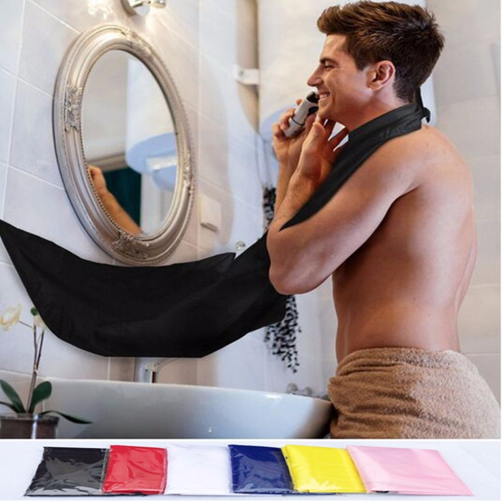 Dimensioni Compatte Impermeabile Barba Rasatura Grembiule Di Colore Solido Degli Uomini Di Bagno Di Famiglia Barba Guarnizioni Grembiule Strumenti Per Lo Styling Dei Capelli Rasatura Grembiule