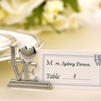 12pcs Lot Wedding Place Card Holder Silver Table Decor Accessories Wedding Favors Love Heart Design Photo